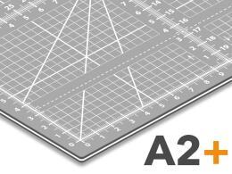 Schneidematte A2+ - Nähunterlage - Patchworkmatte in grau  47cm x 63cm  mit cm/inch Raster *selbstheilend