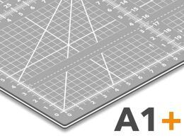 Schneidematte A1+ Nähunterlage - Patchworkmatte in grau  63cm x 93cm  mit cm/inch Raster *selbstheilend