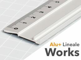 Aluminiumlineale Works+ ohne Stahlkante