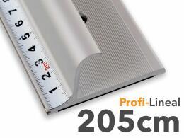 205cm - Sicherheitslineal - Aluminiumlineal