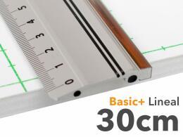 30cm Lineal aus Aluminium mit Stahlkante