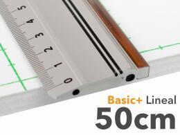 50cm Lineal aus Aluminium mit Stahlkante