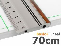 70cm Lineal aus Aluminium mit Stahlkante