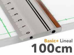 100cm Lineal aus Aluminium mit Stahlkante