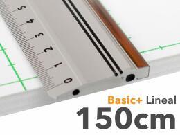 150cm Lineal aus Aluminium mit Stahlkante