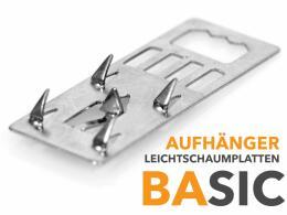 Leichtschaumplatten - Metallaufhänger BASIC