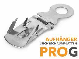 Leichtschaumplatten - Metallaufhänger PROG