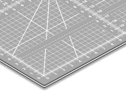 Schneidematte A1+ / Nähunterlage / Patchworkmatte in 63cm x 93cm in grau