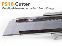 Profi Teppichmesser Cutter Metall